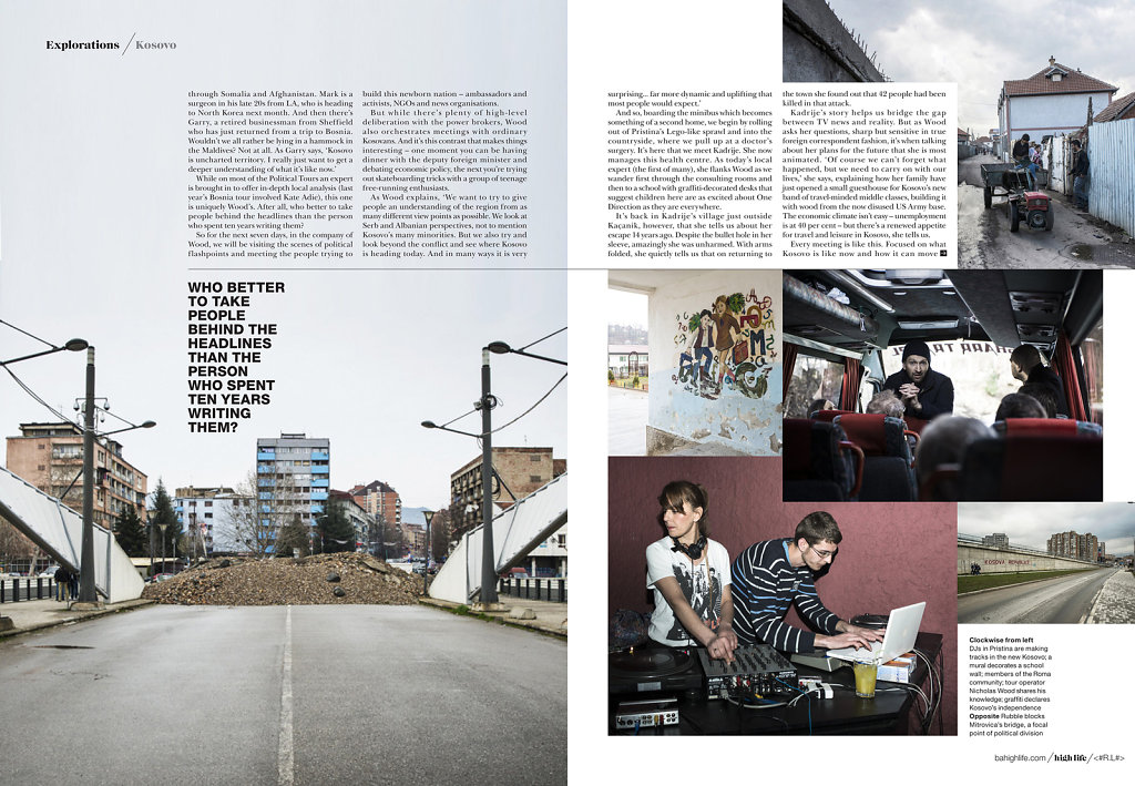 Kosovo for BA High Life Magazine