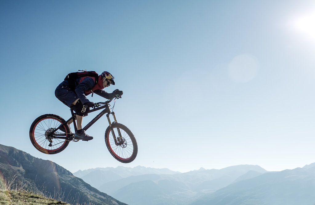 Thomas Oehler, Trial Biker, Pyrenees, Northern Spain