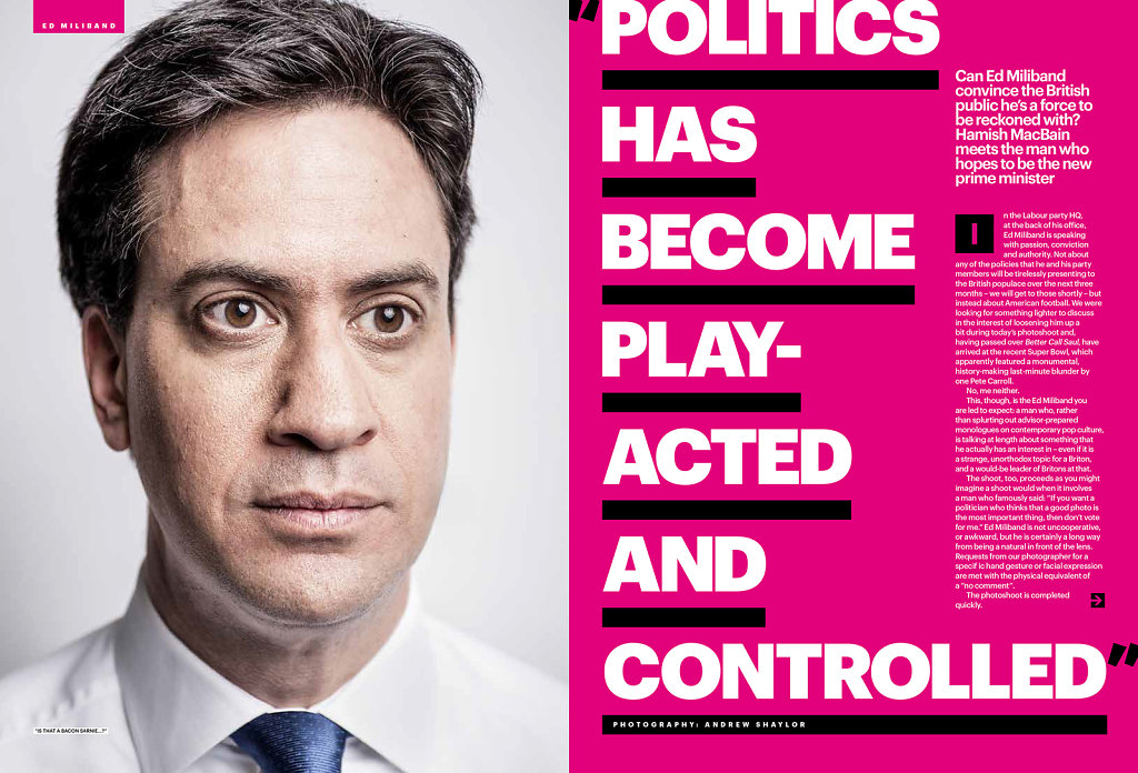 Ed Miliband for Shortlist