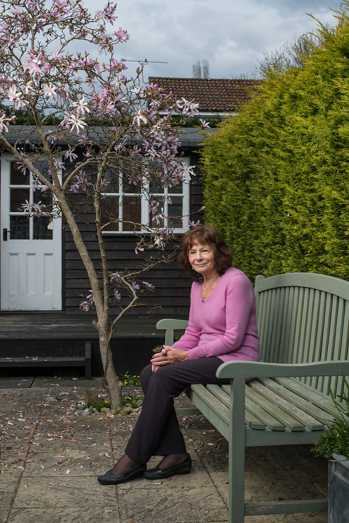 Nancy Williams photographed outside her office in Capel
