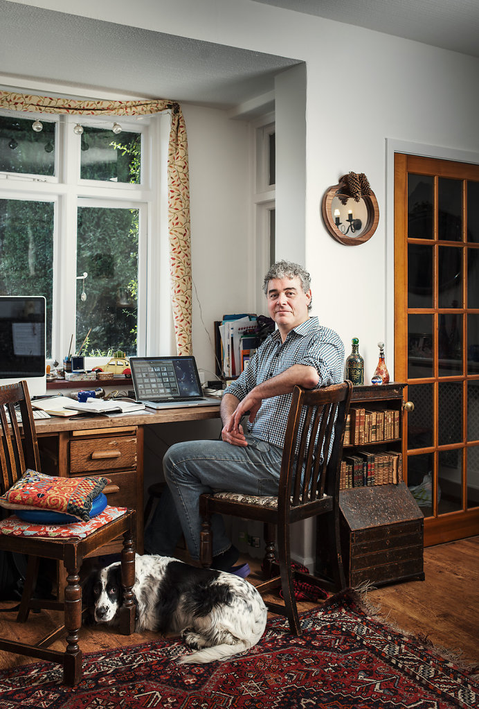 Peter Parker photographed at home