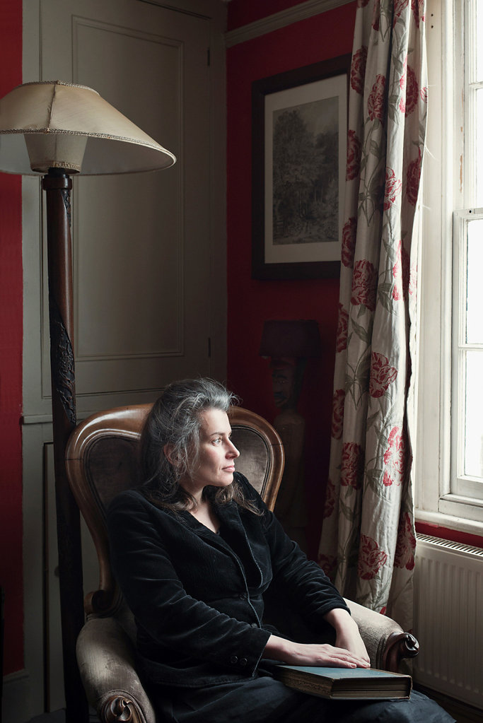 Susan Hill photographed at home