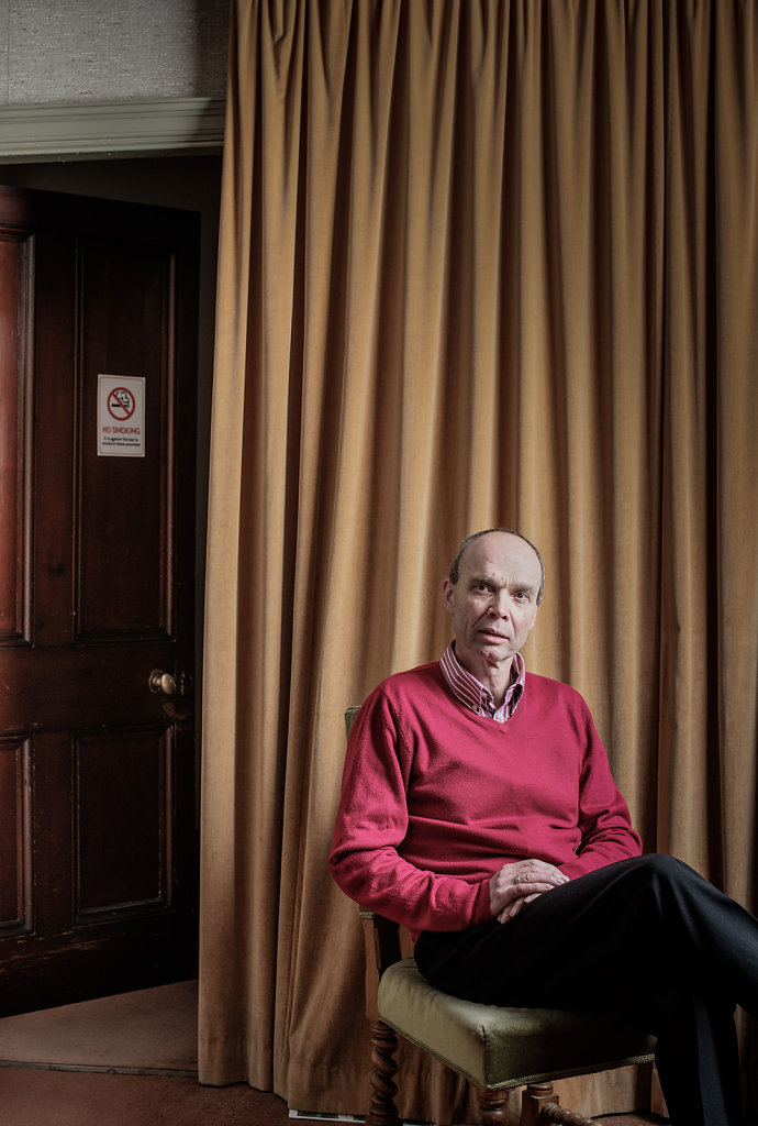 Ted Bellingham photographed at the United Reformed Church