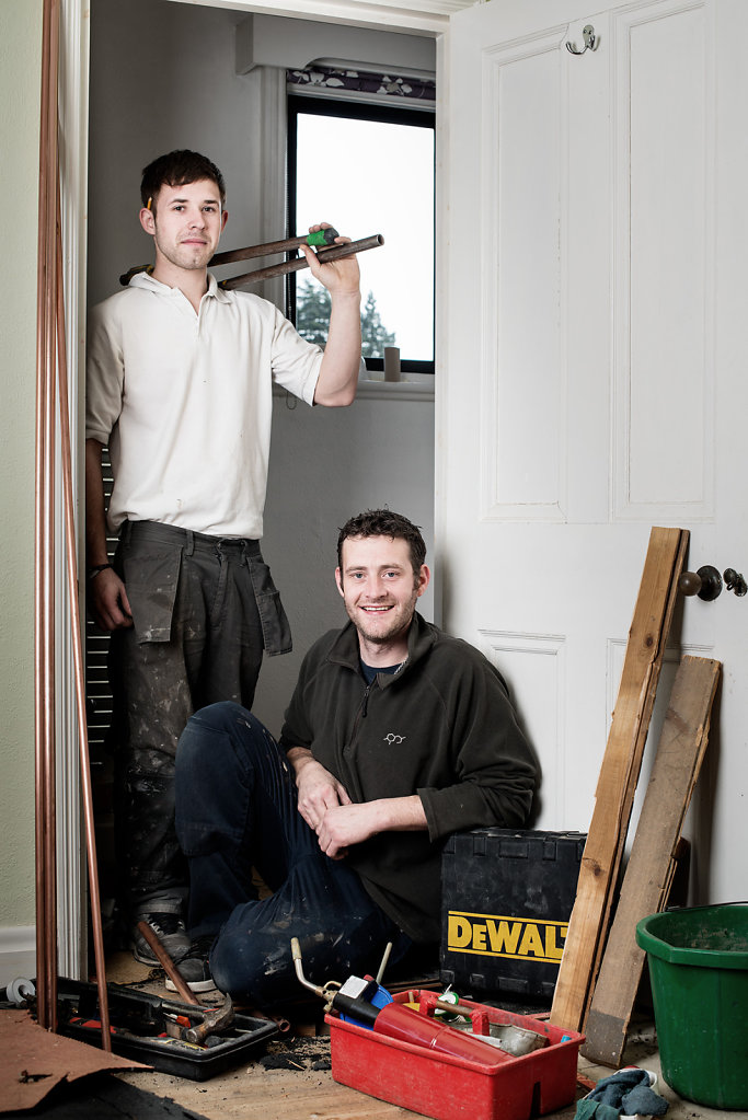 Tim Abel & Steve McTigue photographed at a clients home