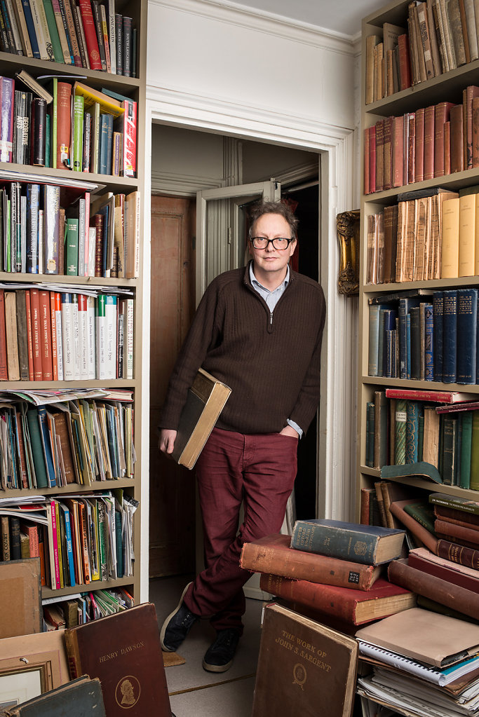 Tim Hill photographed at home