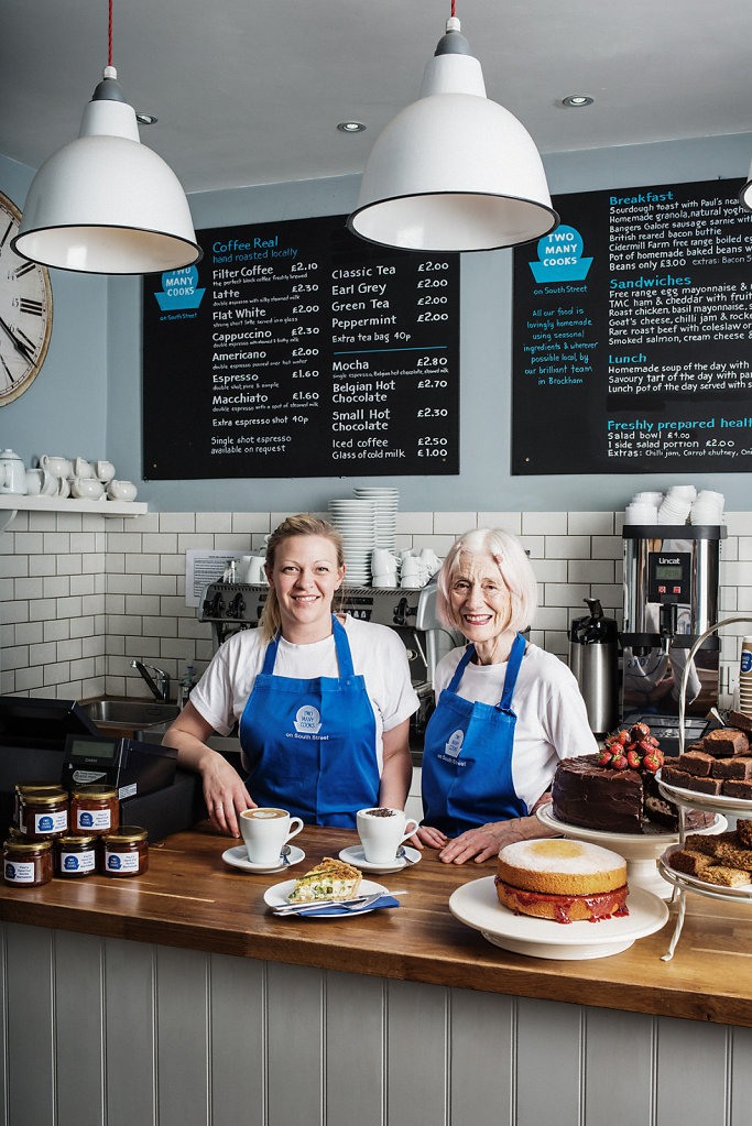 Laura Smart & Angela Hedges photographed at Too Many Cooks